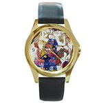 the_virgin__gustav_klimt_copy. Round Gold Metal Watch