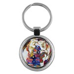 the_virgin__gustav_klimt_copy. Key Chain (Round)