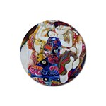 the_virgin__gustav_klimt_copy. Rubber Round Coaster (4 pack)