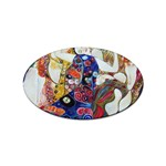 the_virgin__gustav_klimt_copy. Sticker (Oval)