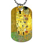 Gustav_Klimt_TheKiss-743560 Dog Tag (One Side)