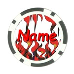 flames-1-09-2 Poker Chip Card Guard