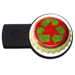 Green Crown USB Flash Drive Round (4 GB) by clickart