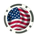USA_flag Poker Chip Card Guard