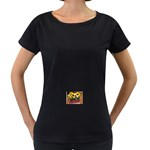 77 Maternity Black T-Shirt