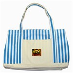 77 Striped Blue Tote Bag