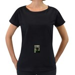 444 Maternity Black T-Shirt