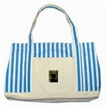 444 Striped Blue Tote Bag