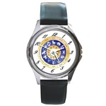zodiac clock face 340 Round Metal Watch