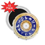zodiac clock face 340 2.25  Magnet (10 pack)