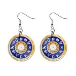 zodiac clock face 340 1  Button Earrings