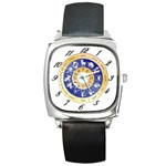 zodiac clock face 340 Square Metal Watch