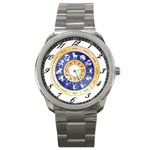 zodiac clock face 340 Sport Metal Watch