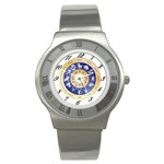 zodiac clock face 340 Stainless Steel Watch