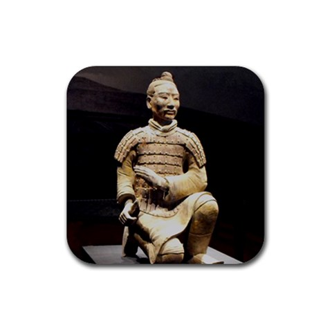 Terracotta Warrior Coaster By Lyn Clarke   Rubber Coaster (square)   Cniq56q17a3s   Www Artscow Com Front