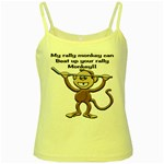 Rally Monkey Yellow Spaghetti Tank