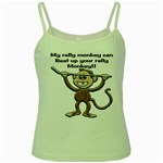 Rally Monkey Green Spaghetti Tank