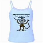 Rally Monkey Baby Blue Spaghetti Tank