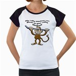 Rally Monkey Women s Cap Sleeve T
