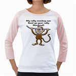 Rally Monkey Girly Raglan
