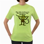 Rally Monkey Women s Green T-Shirt
