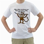 Rally Monkey White T-Shirt