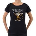 Rally Monkey Maternity Black T-Shirt