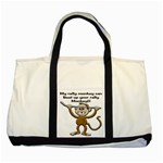 Rally Monkey Two Tone Tote Bag
