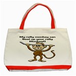 Rally Monkey Classic Tote Bag (Red)