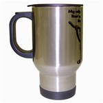 Rally Monkey Travel Mug (Silver Gray)