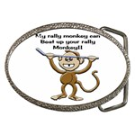 Rally Monkey Belt Buckle