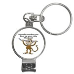 Rally Monkey Nail Clippers Key Chain