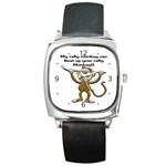Rally Monkey Square Metal Watch