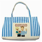 Lil Avs Fan Striped Blue Tote Bag