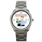 Lil Avs Fan Sport Metal Watch