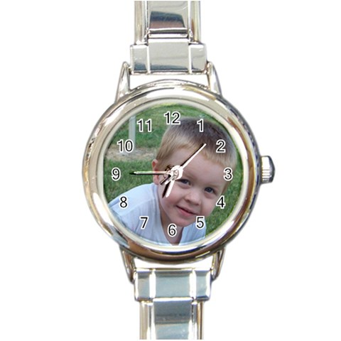 Watch By Cookie6672   Round Italian Charm Watch   Syi1d73wfkaa   Www Artscow Com Front