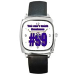 You Can t Teach Greatness Square Metal Watch