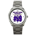 You Can t Teach Greatness Sport Metal Watch