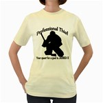 Professional Theif Women s Yellow T-Shirt