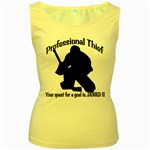 Professional Theif Women s Yellow Tank Top