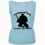 Professional Theif Women s Baby Blue Tank Top