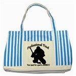 Professional Theif Striped Blue Tote Bag