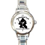 Professional Theif Round Italian Charm Watch