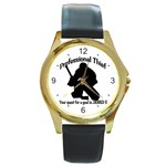 Professional Theif Round Gold Metal Watch
