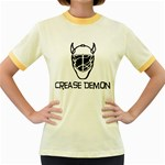 Crease Demon Women s Fitted Ringer T-Shirt