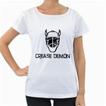 Crease Demon Maternity White T-Shirt