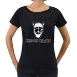 Crease Demon Maternity Black T-Shirt