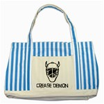Crease Demon Striped Blue Tote Bag