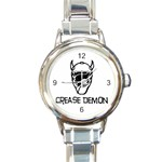 Crease Demon Round Italian Charm Watch