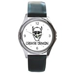 Crease Demon Round Metal Watch